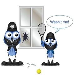 POLICEMAN TENNIS vector image