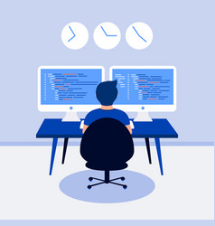 Programming design concept vector