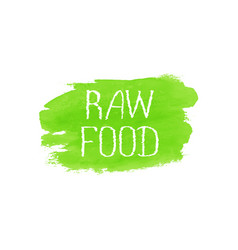 Raw food concept logo design template vector