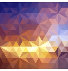 Retro triangle background vector image