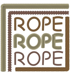 Rope elements and forms vector image