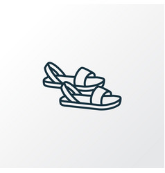 sandals icon line symbol premium quality isolated vector image