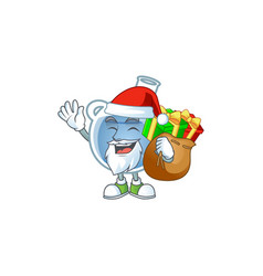 santa blue potion cartoon character design having vector image