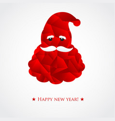 santa head christmas vector image