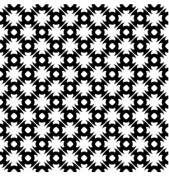 seamless pattern floral black white texture vector image