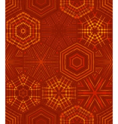 Seamless red ethnic textile pattern vector image