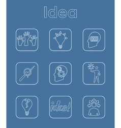 Set of idea simple icons vector image