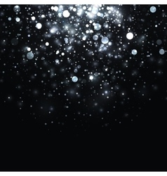 silver glowing light glitter background vector image