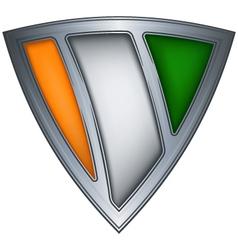 steel shield ivory coast vector image