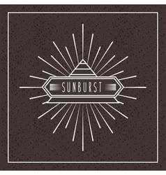 sunburst frame design vector image