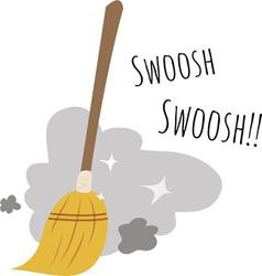 Swoosh broom vector