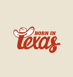 Texas lettering vector
