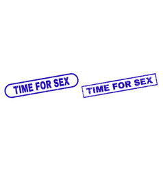 Time for sex blue rectangle stamp with unclean vector