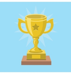 Trophy Cup and award Icon vector image vector image