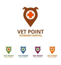 Vet Point Logo vector image
