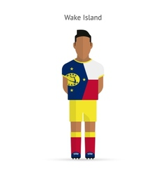 Wake Island football player Soccer uniform vector