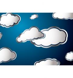 weather cloud vector image