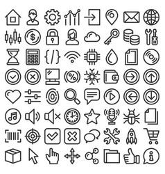 Web gui elements and applications screen icons big vector