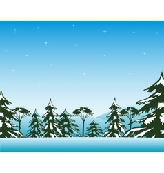 Winter day in wood vector