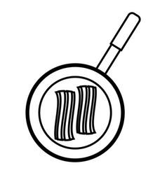 Bacon stripe icon vector