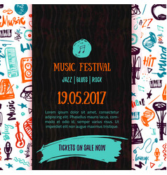 Music concert poster template Can be used vector image vector image