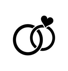 Wedding rings pair icon vector image