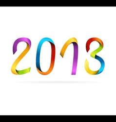 2013 rainbow design vector image