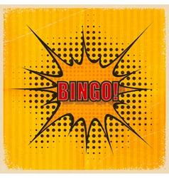 Cartoon Bingo on an old yellow background vector image