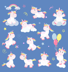 cute unicorn magic baby vector image
