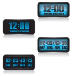 Digital clock and countdown vector image