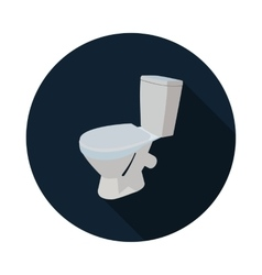 flat icon toilet 3d vector image vector image