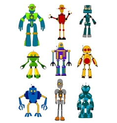 Mechanical robots vector image vector image