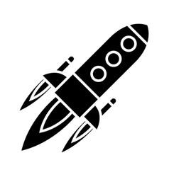 rocket power launch flight icon vector image