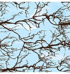 Seamless background pattern tree on cloud sky natu vector image