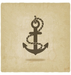 anchor old background vector image vector image