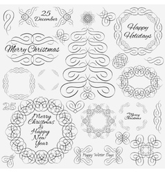 design elements Hand-drawn flourishes vector image vector image