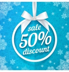 Fifty percents Christmas sale discount white vector image vector image