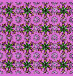 flower seamless decorative background flower vector image
