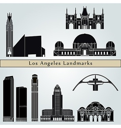 Los Angeles landmarks and monuments vector image vector image