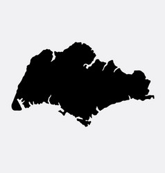 singapore island map silhouette vector image vector image