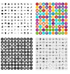 100 bridge icons set variant vector