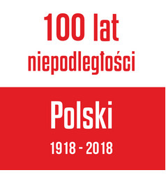 100 years independence poland red white vector image