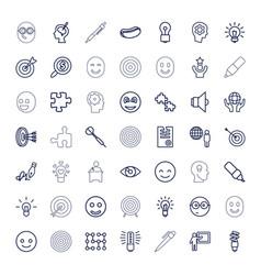 49 idea icons vector