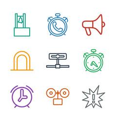 9 alert icons vector