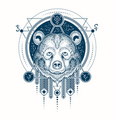 A geometric tattoo front vector