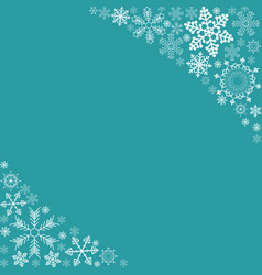 abstract winter design background with snowflakes vector image