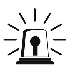 alarm siren icon simple style vector image