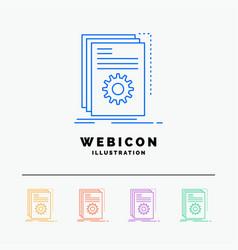 app build developer program script 5 color line vector image