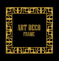 art deco retro frame vector image