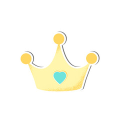 baisolated crown for boy vector image